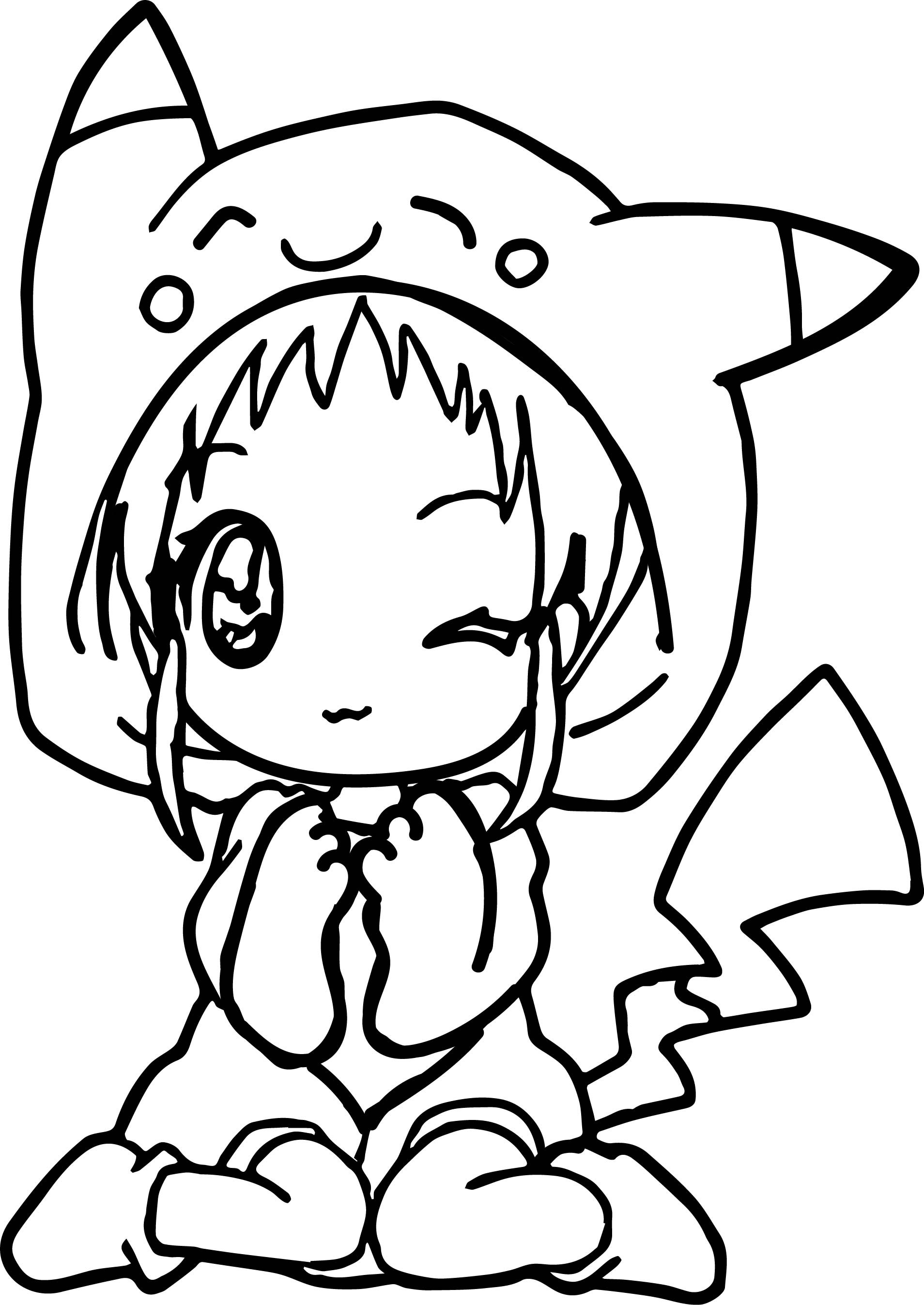 Pokemon Coloring Sheets For Girls  Anime Girl Coloring Pages coloringsuite