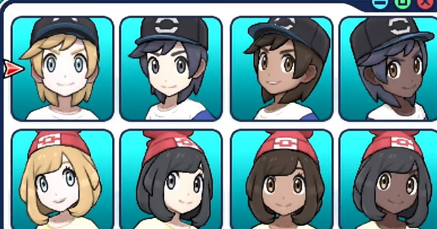 Pokemon Ultra Sun Female Hairstyles  Pokémon Sun and Moon Hairstyles