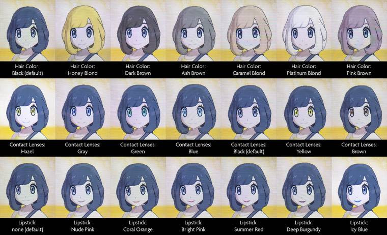 Pokemon Ultra Sun Female Hairstyles  Pokémon Sun and Moon Hairstyles Haircuts and Hair