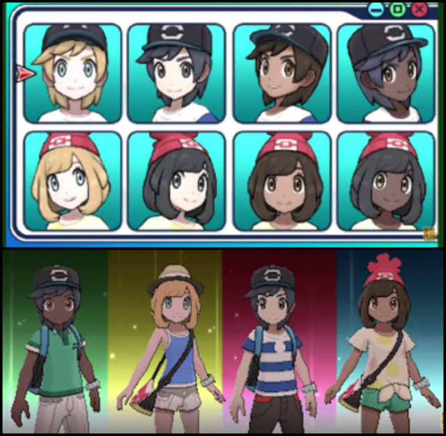 Pokemon Ultra Sun Female Hairstyles  A a Fashions Guides Bulba Pokémon Sun & Moon Handbook