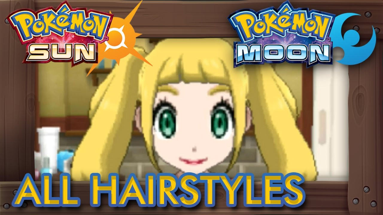 Pokemon Ultra Sun Female Hairstyles  Pokemon Female Hairstyles