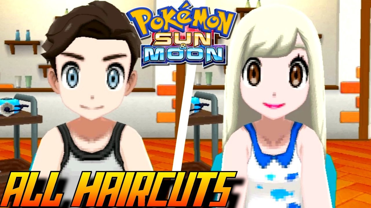 Pokemon Ultra Sun Female Hairstyles  Pokémon Sun and Moon All Haircuts Colors Male