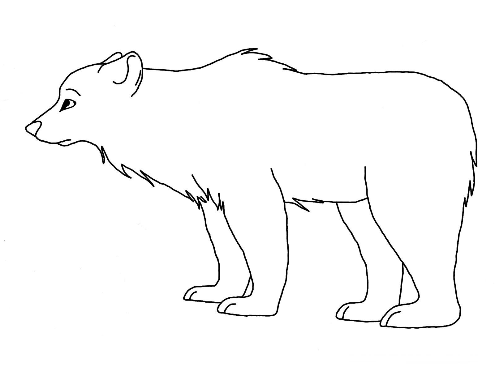 Polar Bear Coloring Sheet  Free Printable Polar Bear Coloring Pages For Kids