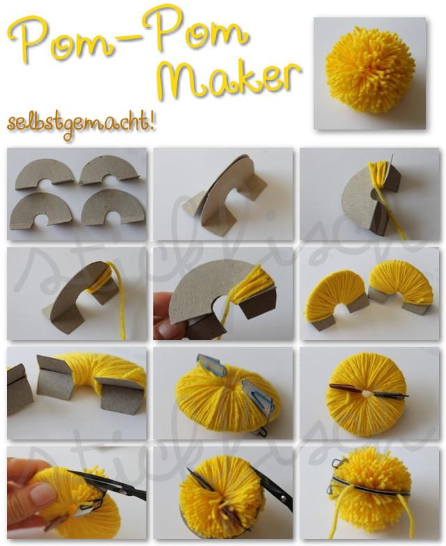 Pom Pom Maker DIY  Pom Pom Maker selbstgemacht
