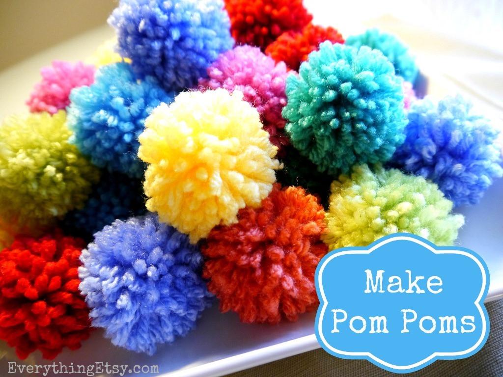 Pom Pom Maker DIY  How to Make a Pom Pom DIY Fun