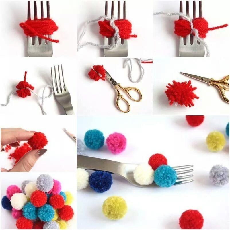 Pom Pom Maker DIY  Easy DIY Pom Poms s and for