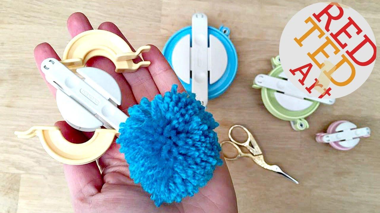 Pom Pom Maker DIY  Clover Pom Pom Maker Tutorial Easy Pom Pom DIY