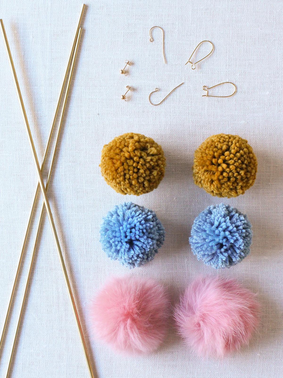 Pom Pom Maker DIY  DIY Pom Pom Earrings – Honestly WTF
