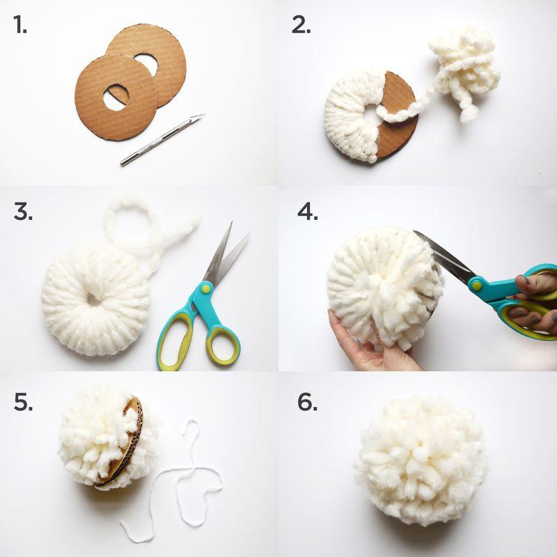 Pom Pom Maker DIY  Pom Pom Blanket DIY A Beautiful Mess