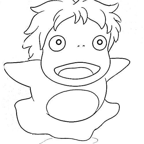 Ponyo Coloring Pages  Ponyo coloring pages