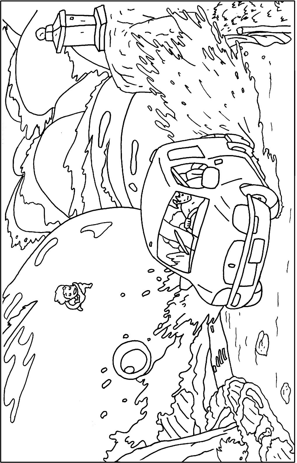 Ponyo Coloring Pages  Kiki And Ponyo Coloring Pages Coloring Pages