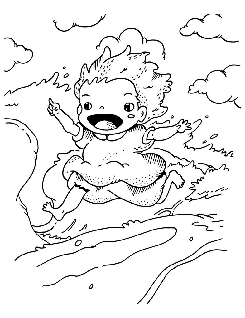 Ponyo Coloring Pages  ponyo print and color – Free Printables