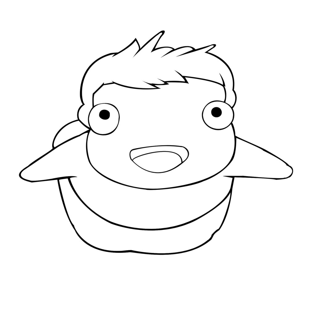 Ponyo Coloring Pages  coloring pages of ponyo by oliver – Free Printables