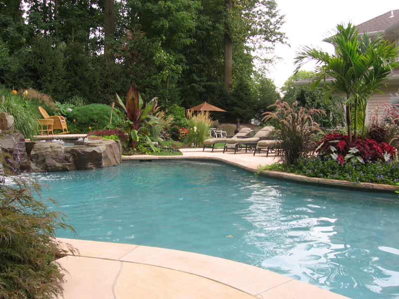 Best ideas about Pool Landscape Ideas . Save or Pin Swimming Pool Landscaping Ideas Inground Pools NJ Design Now.