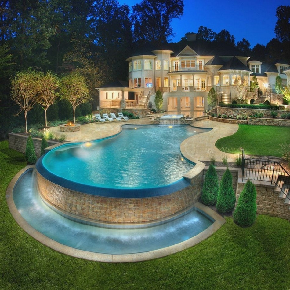 Best ideas about Pool Landscape Ideas . Save or Pin Ideas Ground Pool Landscaping — Bistrodre Porch and Now.