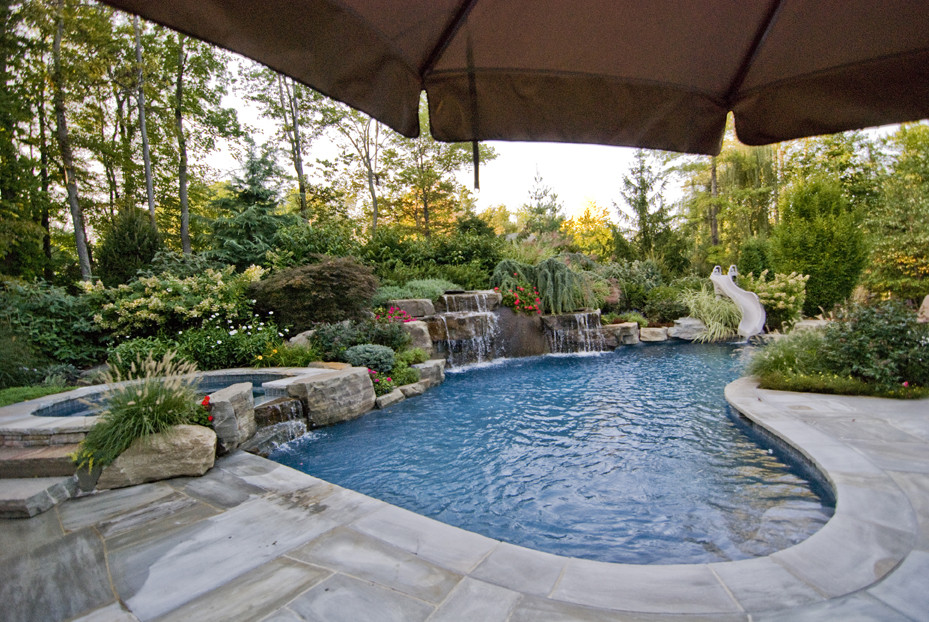 Best ideas about Pool Landscape Ideas . Save or Pin Landscaping Ideas By NJ Custom Pool & Backyard Design Expert Now.