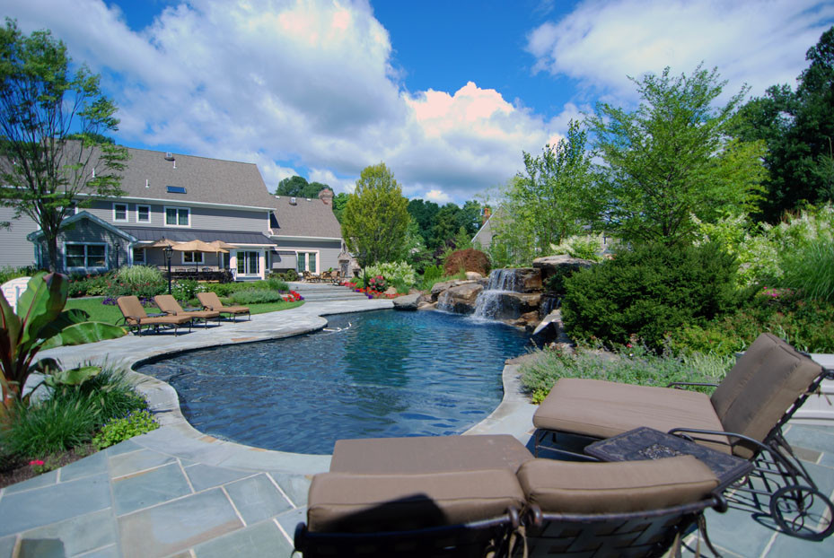 Best ideas about Pool Landscape Ideas . Save or Pin Landscaping With Pools Now.