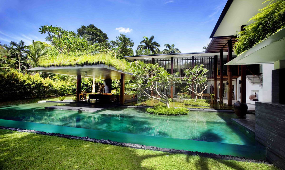 Best ideas about Pool Landscape Ideas . Save or Pin Swimming pool landscaping ideas Now.