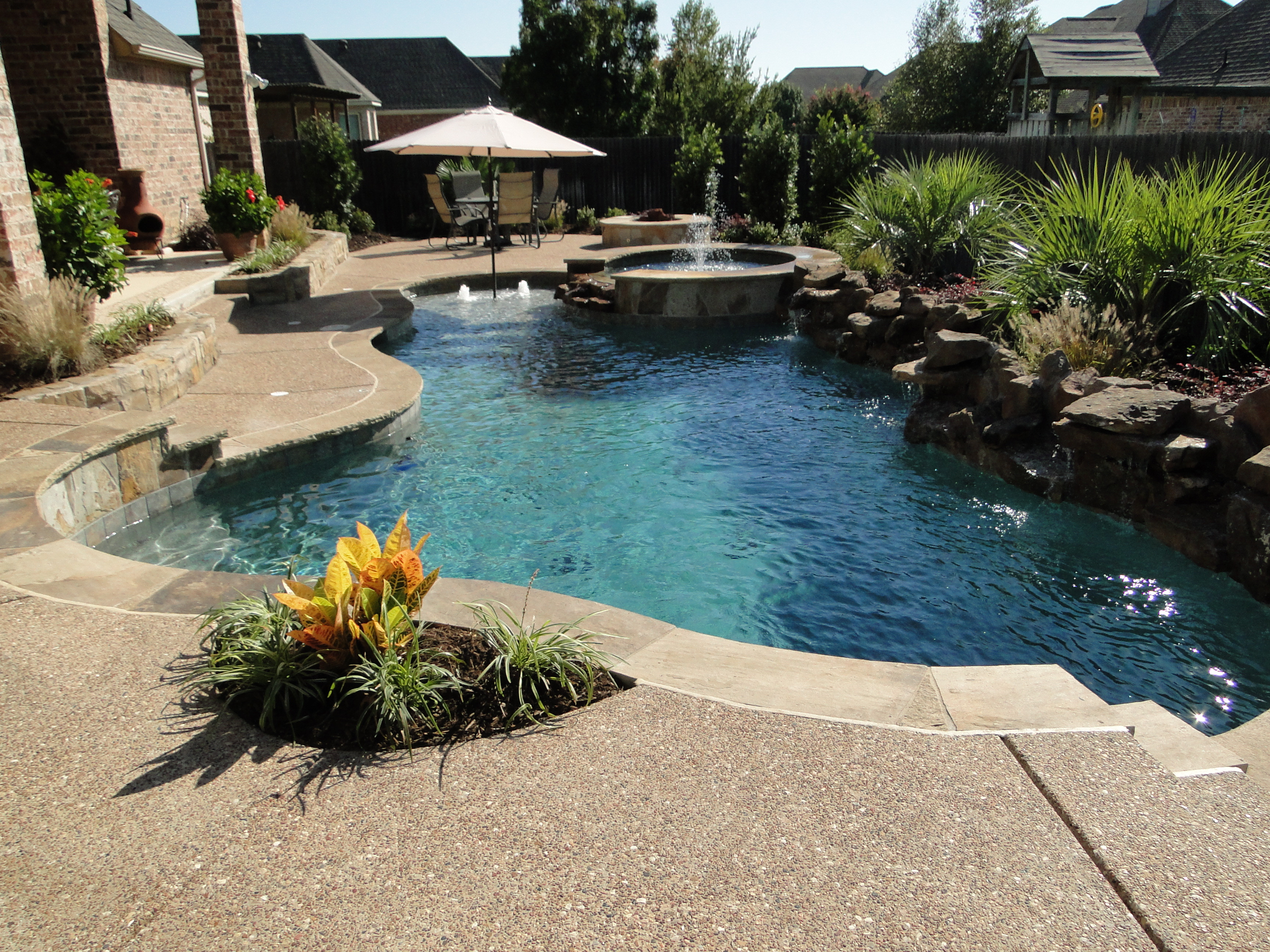 Best ideas about Pool Landscape Ideas . Save or Pin Backyard Landscaping Ideas Swimming Pool Design Now.