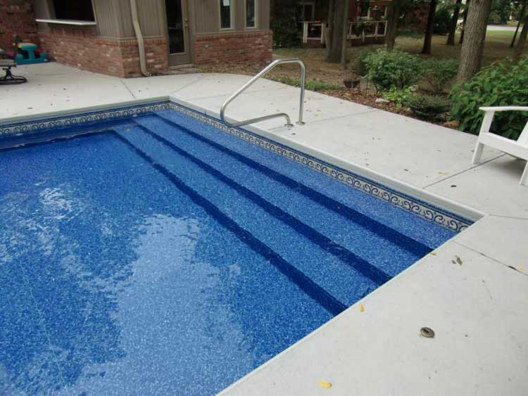 Best ideas about Pool Steps For Inground Pool . Save or Pin Full Width Vinyl Over Steps Now.