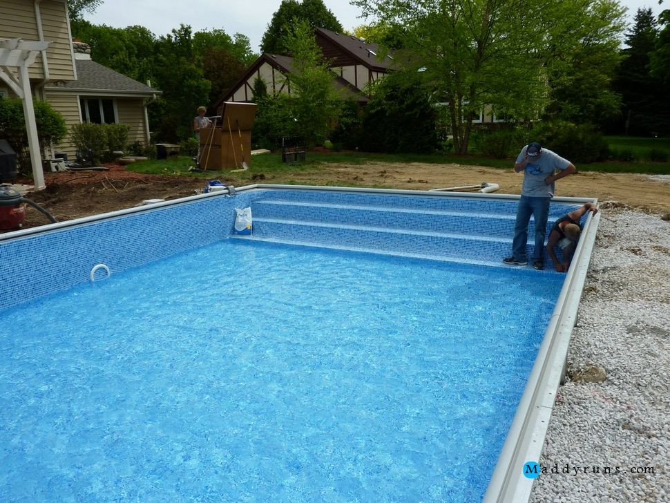 Best ideas about Pool Steps For Inground Pool . Save or Pin Swimming Pool Swimming Pool Ladder Installation Now.
