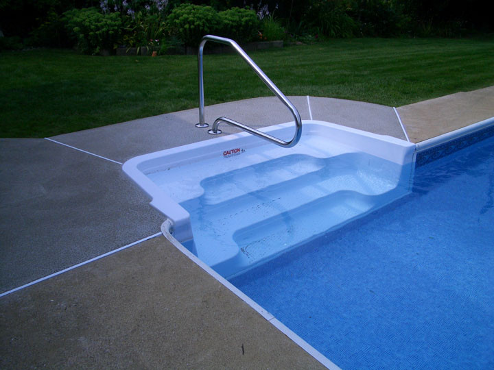Best ideas about Pool Steps For Inground Pool . Save or Pin mercial Pool & Spa Maintenance in ground pool liner Now.