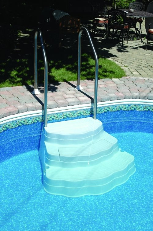 Best ideas about Pool Steps For Inground Pool . Save or Pin The Oasis Inground Pool Step Now.