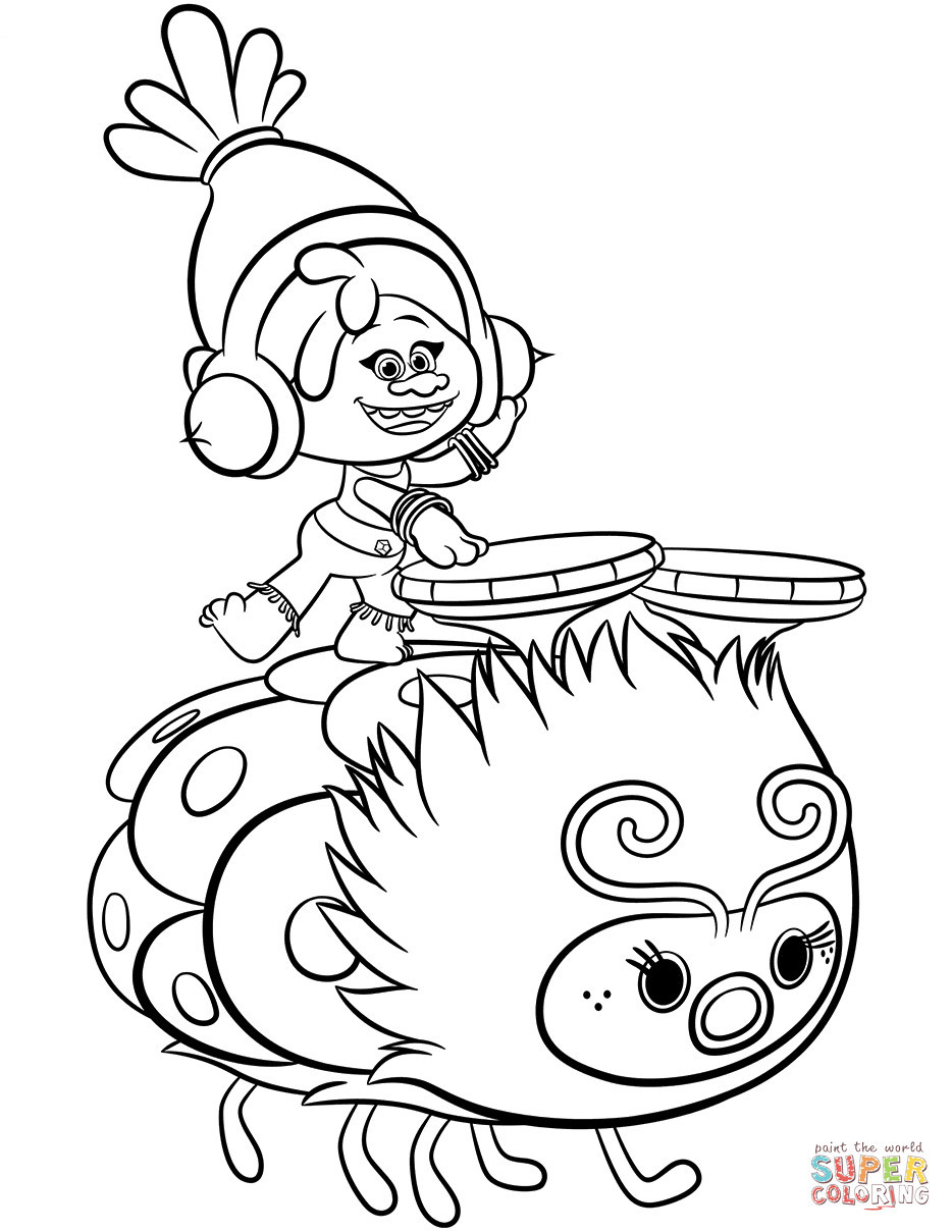 Poppy Trolls Coloring Pages  Poppy From Trolls Coloring Pages thekindproject