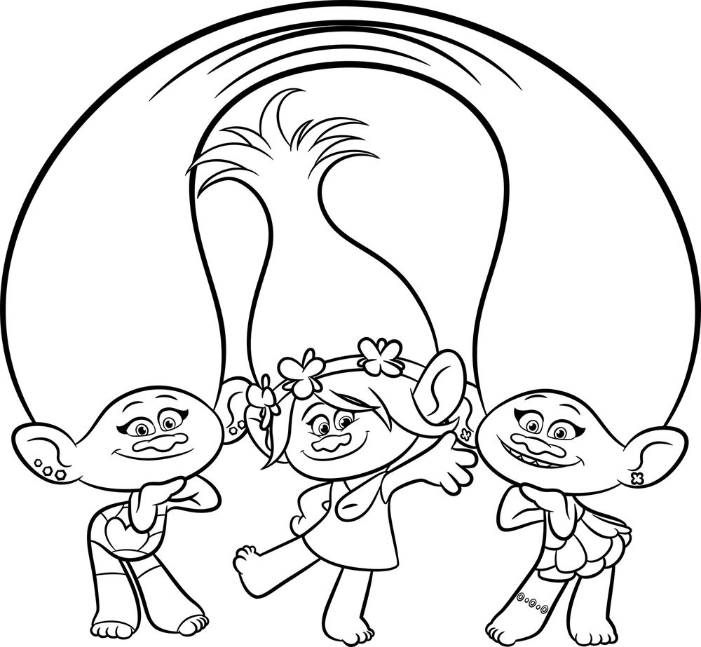 Poppy Trolls Coloring Pages  Trolls Movie Coloring Pages Best Coloring Pages For Kids