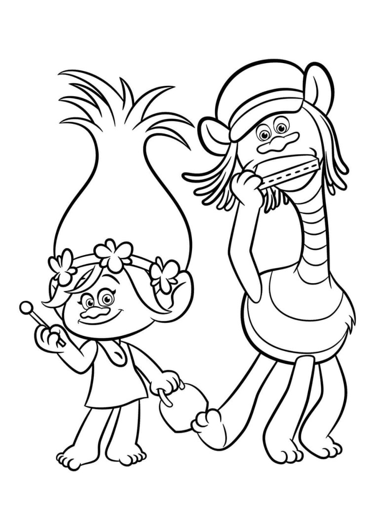 Poppy Trolls Coloring Pages  30 Printable Trolls Movie Coloring Pages