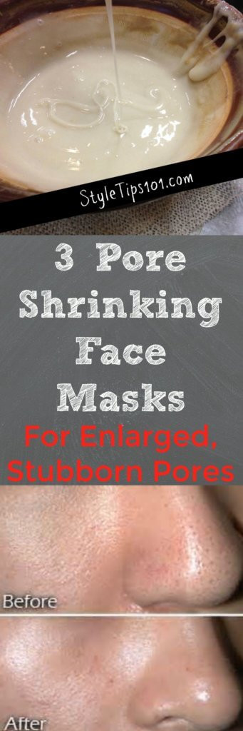 Pore Shrinking Mask DIY  3 Pore Shrinking Face Masks You Should Make Today