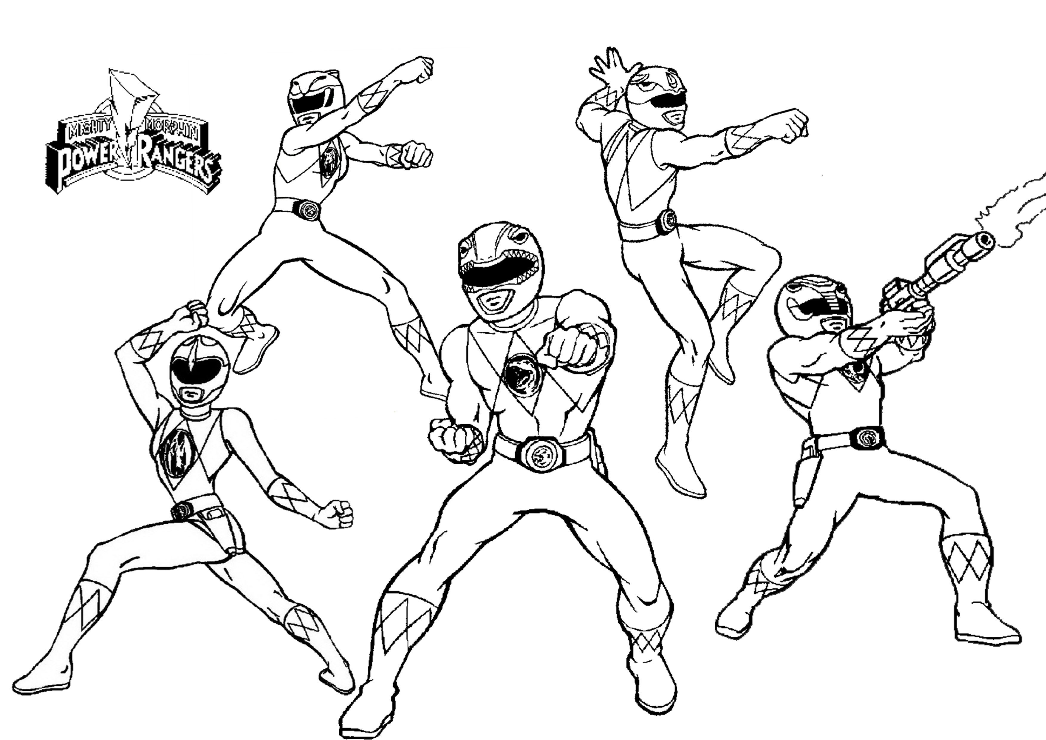 Power Ranger Coloring Pages  Mighty Morphin Power Rangers