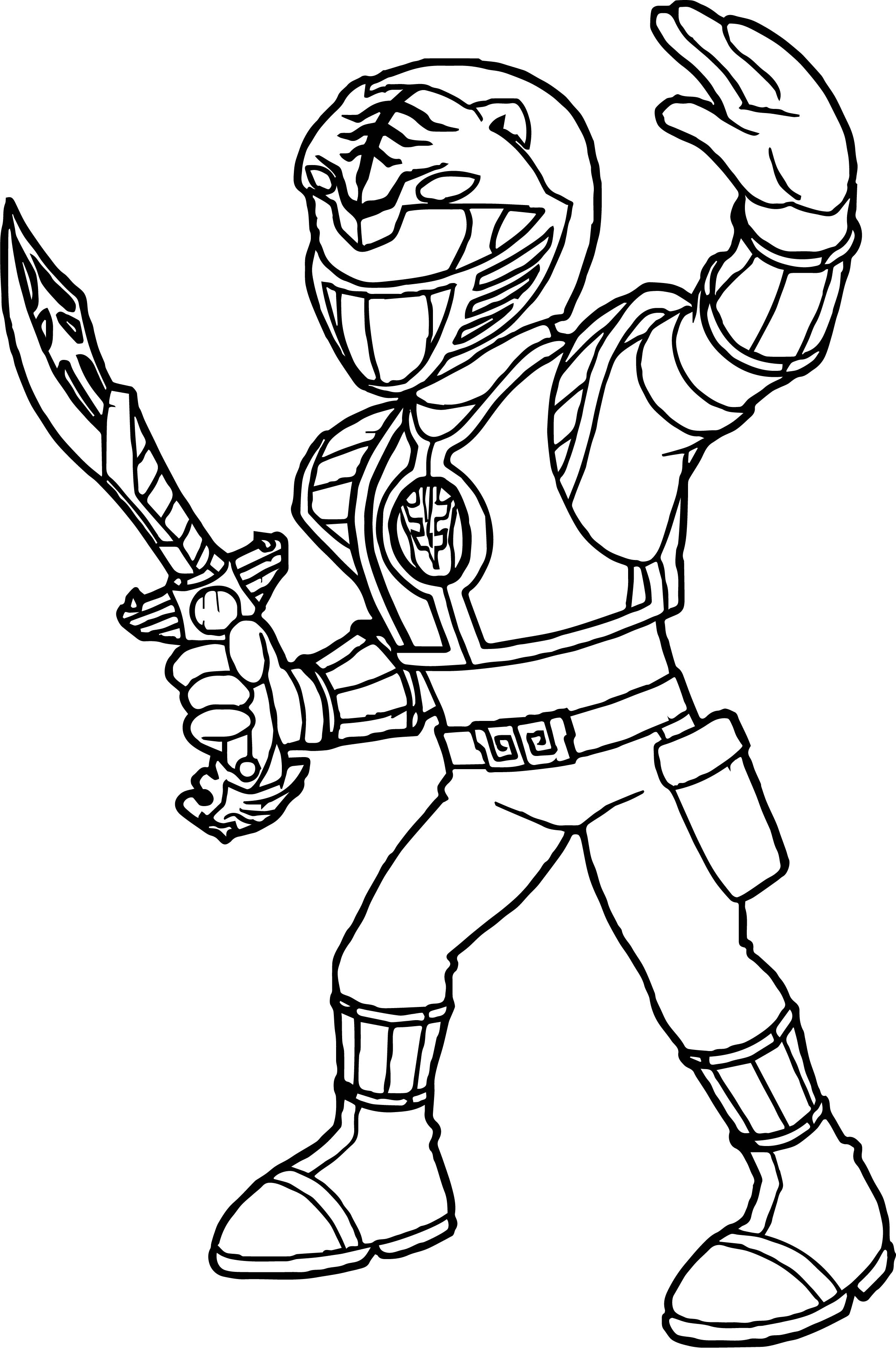 Power Ranger Coloring Pages  Power Rangers White Ranger Coloring Page