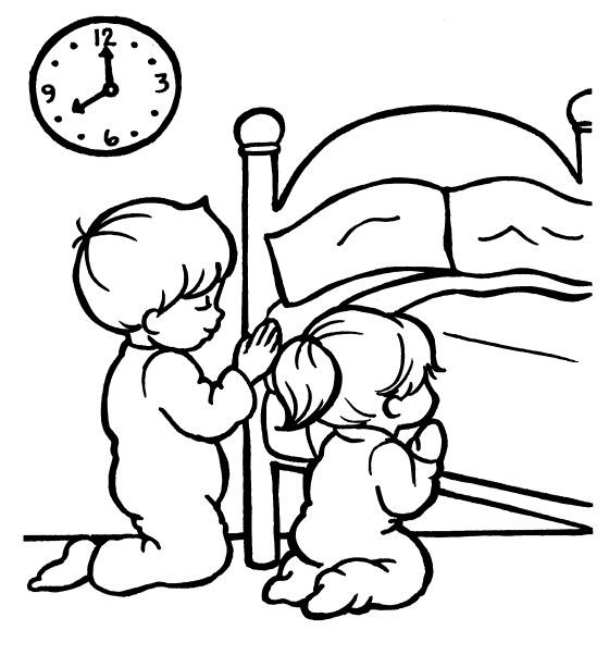 Prayer Coloring Pages For Kids  Lds Prayer Coloring Page