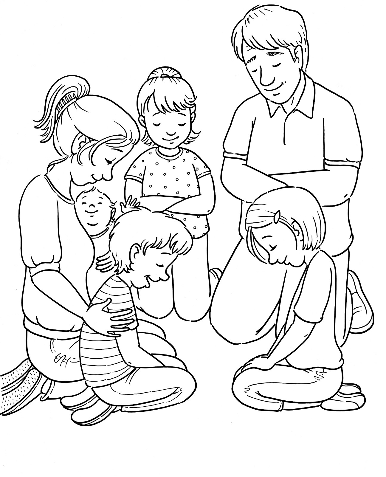 Prayer Coloring Pages For Kids  Family Prayer