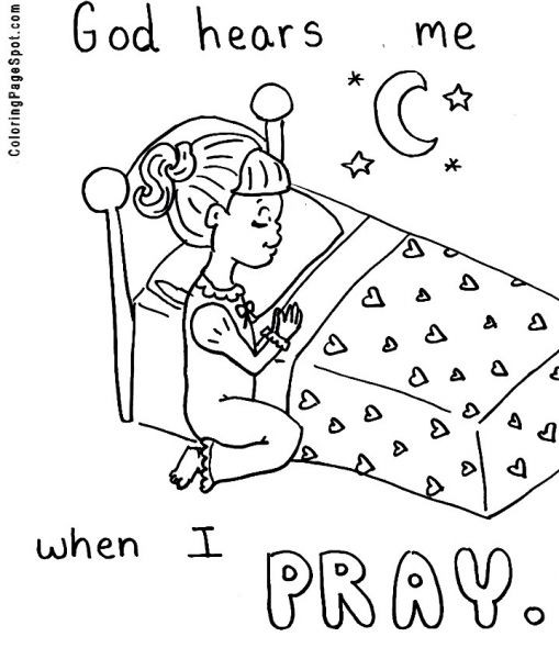Prayer Coloring Pages For Kids  The Lord S Prayer Coloring Pages For Children Coloring Home