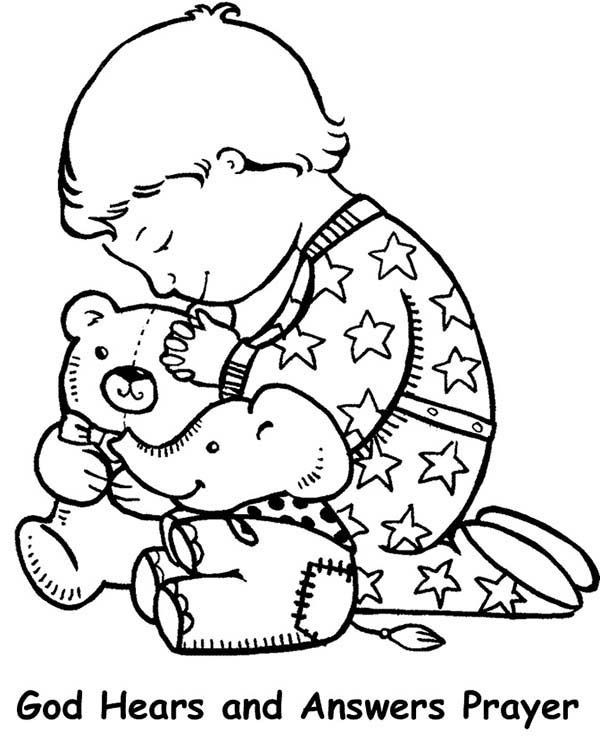 Prayer Coloring Pages For Kids  Lords Prayer Lords Prayer and Have Faith Coloring Page