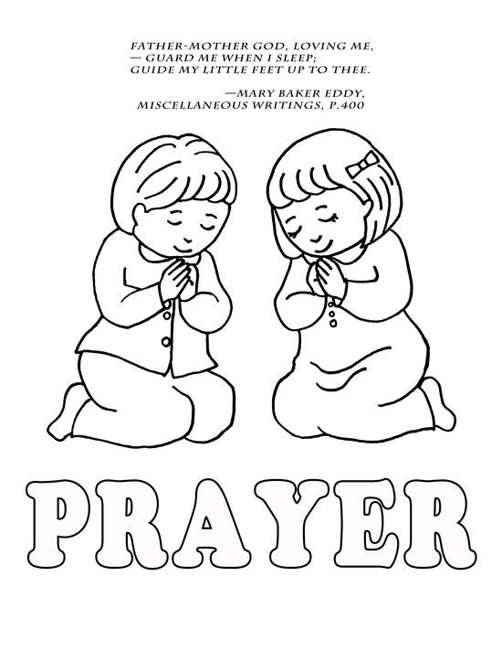 Prayer Coloring Pages For Kids  Children Praying Coloring Page Coloring Home