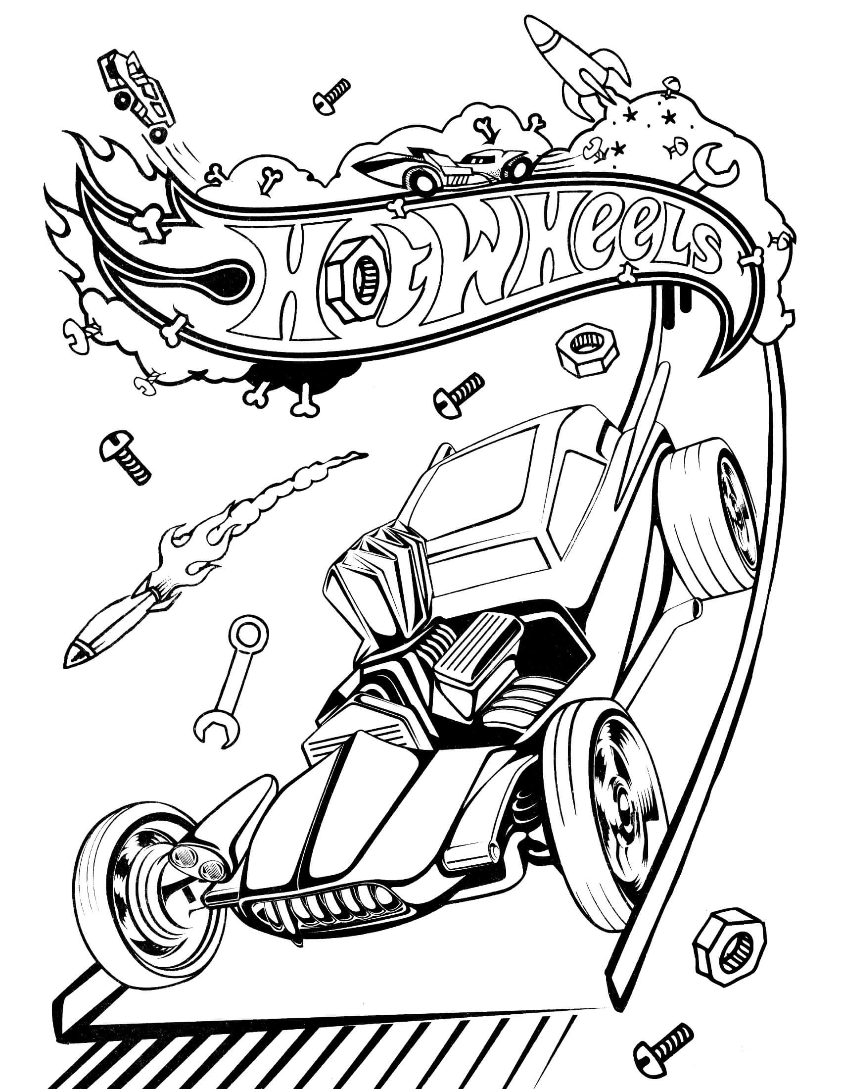 Pre K Big Truck Coloring Pages For Girls  Hot Wheels 24 – Coloringcolor