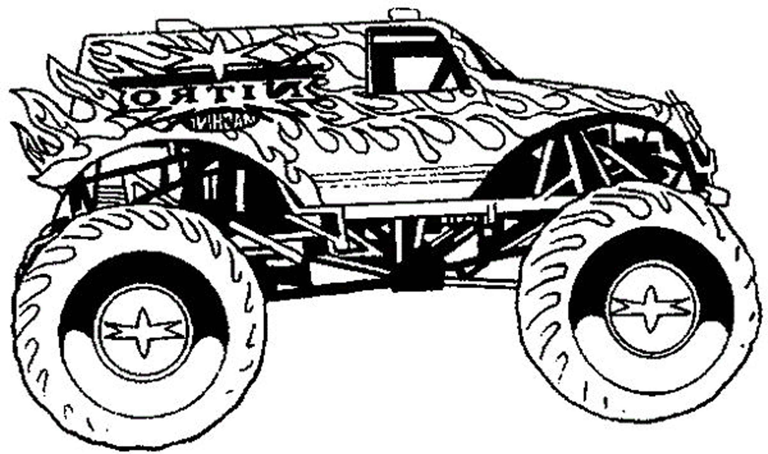 Pre K Big Truck Coloring Pages For Girls  Cool Coloring Pages For Boys Monster Truck Have Coloring