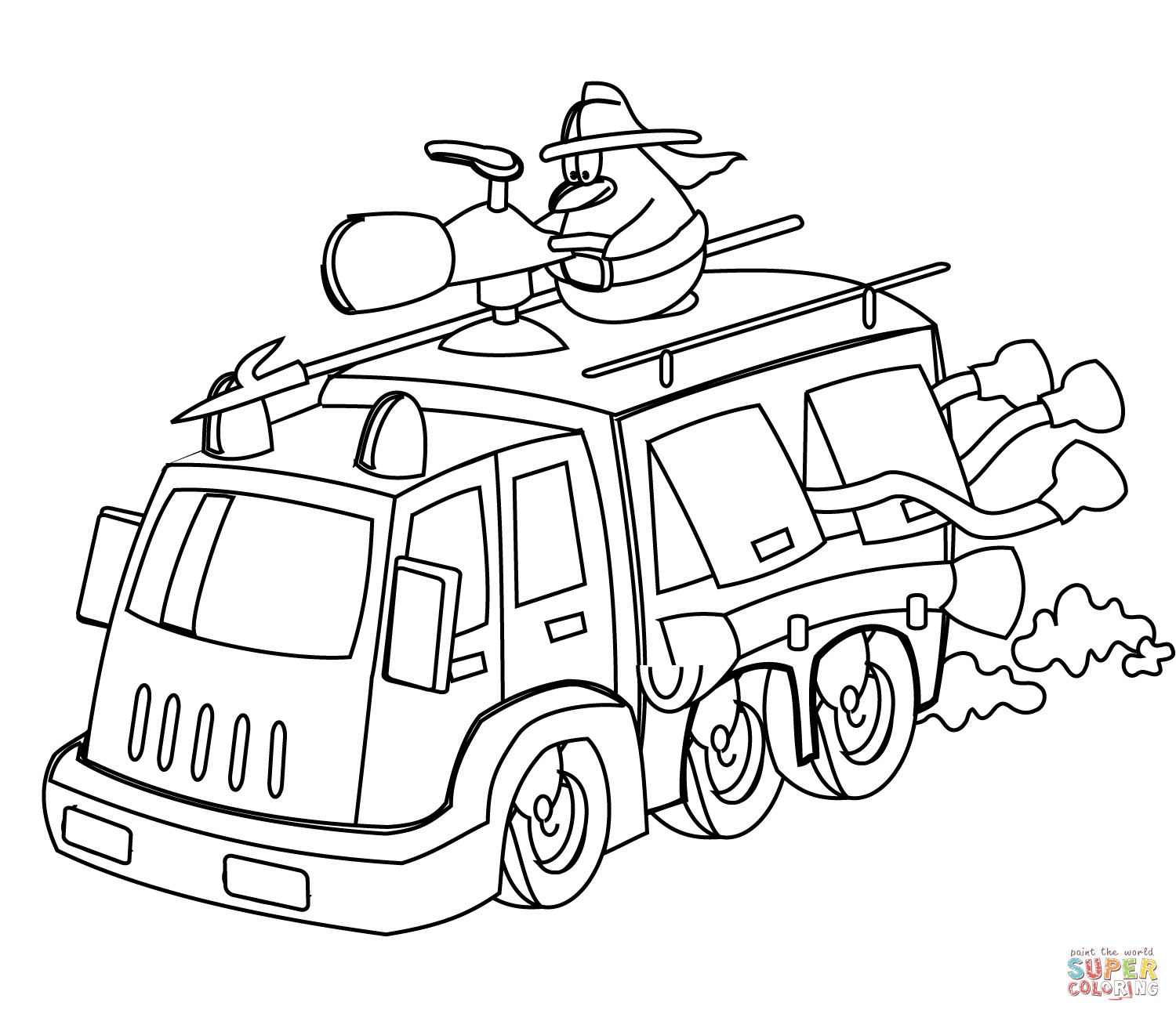 Pre K Big Truck Coloring Pages For Girls  Fire Truck Coloring Pages For Kids AZ Coloring Pages