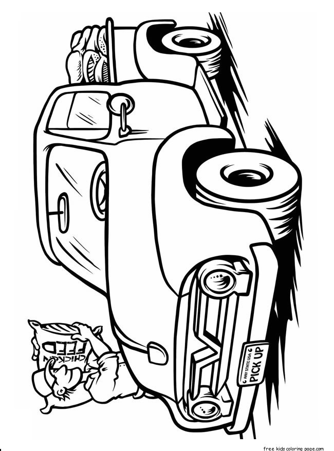 Pre K Big Truck Coloring Pages For Girls  monster truck coloring book pages for kidsFree Printable