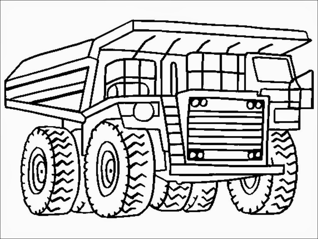 Pre K Big Truck Coloring Pages For Girls  Dump Truck Coloring Pages Printable