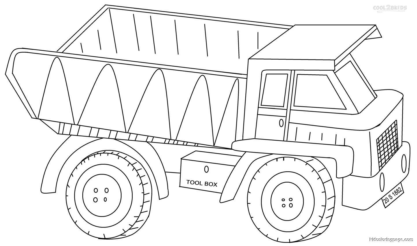 Pre K Big Truck Coloring Pages For Girls  Pickup Truck Coloring Pages Bestofcoloring
