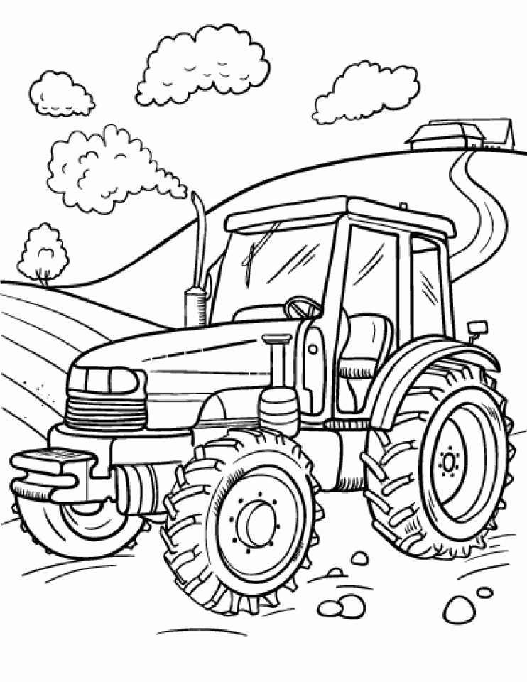 Pre K Big Truck Coloring Pages For Girls  20 Free Printable Tractor Coloring Pages