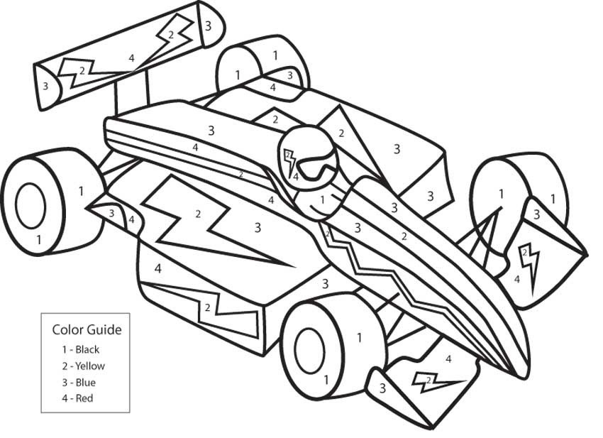 Pre K Big Truck Coloring Pages For Girls  Color by Number for Older Kids