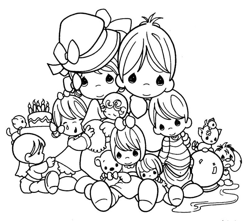 Precious Moments Printable Coloring Sheets  Free Printable Precious Moments Coloring Pages For Kids