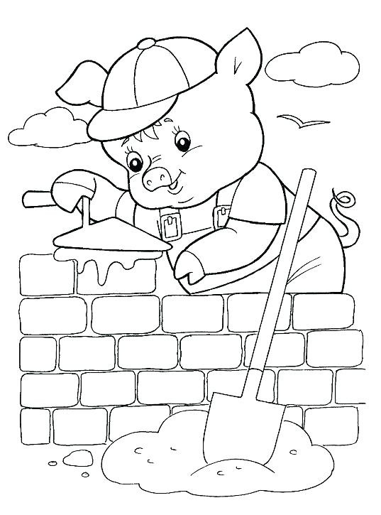 Preschool Coloring Sheets For The 3 Little Pigs Paper Plate Pig  Paper Plate Three Little Pigs Craft Pig Template
