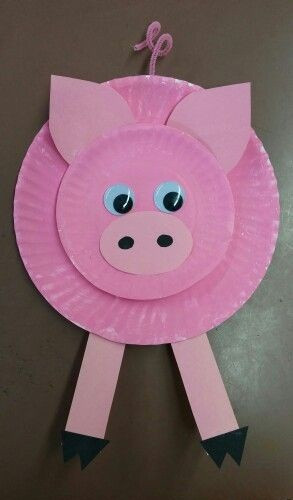 Preschool Coloring Sheets For The 3 Little Pigs Paper Plate Pig  9 Cute Pig Arts And Crafts Ideas For Kids and Toddlers