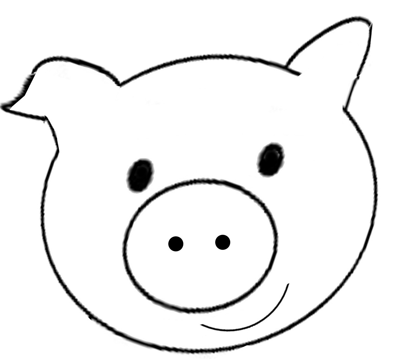 Preschool Coloring Sheets For The 3 Little Pigs Paper Plate Pig  Kid a fy a Shrunken Sweater with the power of felt